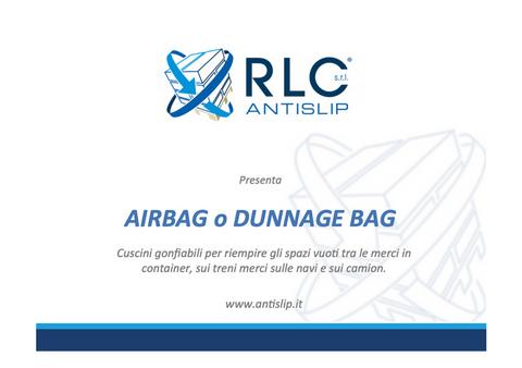 brochure air bag per container